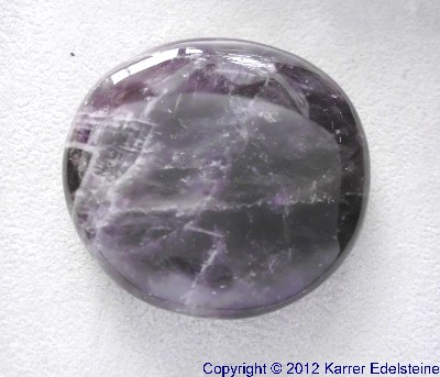 Flacher Massagestein Amethyst
